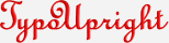 TypoUpright